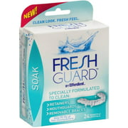 Efferdent Fresh Guard Soak Crystals Packets 24 Each (Pack of 3)