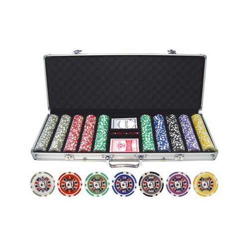JP Commerce 500 Piece Big Slick 11.5g Poker Chip Set