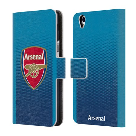 OFFICIAL ARSENAL FC 2017/18 CREST KIT LEATHER BOOK WALLET CASE COVER FOR BLACKBERRY ONEPLUS