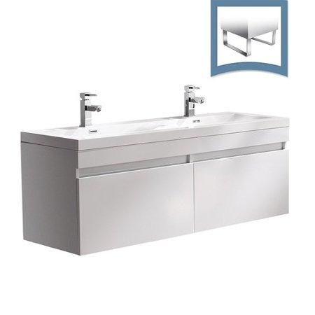 - Fresca Largo 57'' Double Bathroom Vanity Set