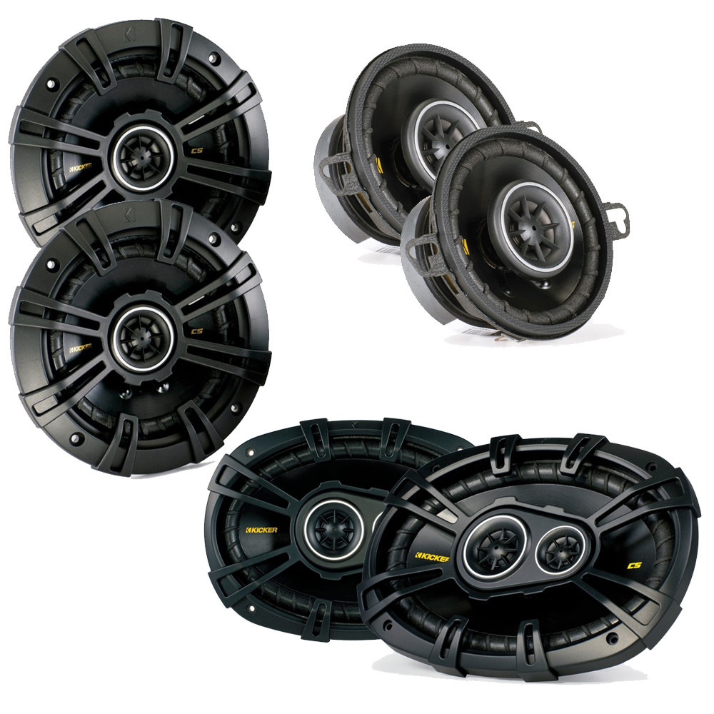 "Kicker for Dodge Ram Truck 2002-2011 Speaker bundle - CS 6x9"" 3-way speakers, CS 5.25"" speakers, & CS 3.5"" speakers"