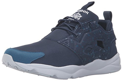 Reebok AQ9955: Classic Furylite SP Noble Collegiate-Blue White Casual Sneakers by Reebok Footwear