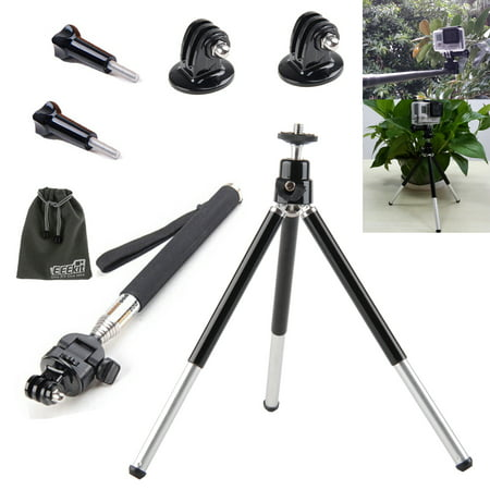 eeekit 2 in 1 kit mini tripod stand mount selfie stick monopod for gopro hero session 5 4 3 2. Black Bedroom Furniture Sets. Home Design Ideas