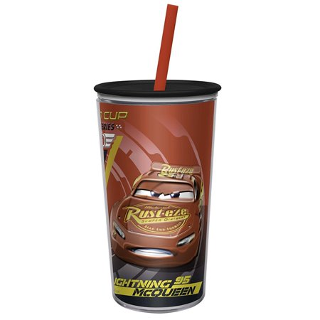 Zak Designs Insulated Tumbler Disney Cars Screw-on Lid with Straw 10 oz Cup - Disney Tumbler