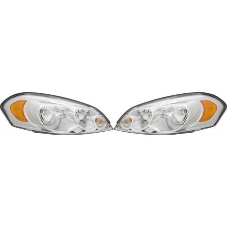 KarParts360: Fits 2006 - 2013 CHEVROLET IMPALA Head Light Assembly Pair Driver and Passenger Side w/Bulbs Replaces GM2502261 covid 19 (Driver Side Chevrolet coronavirus)
