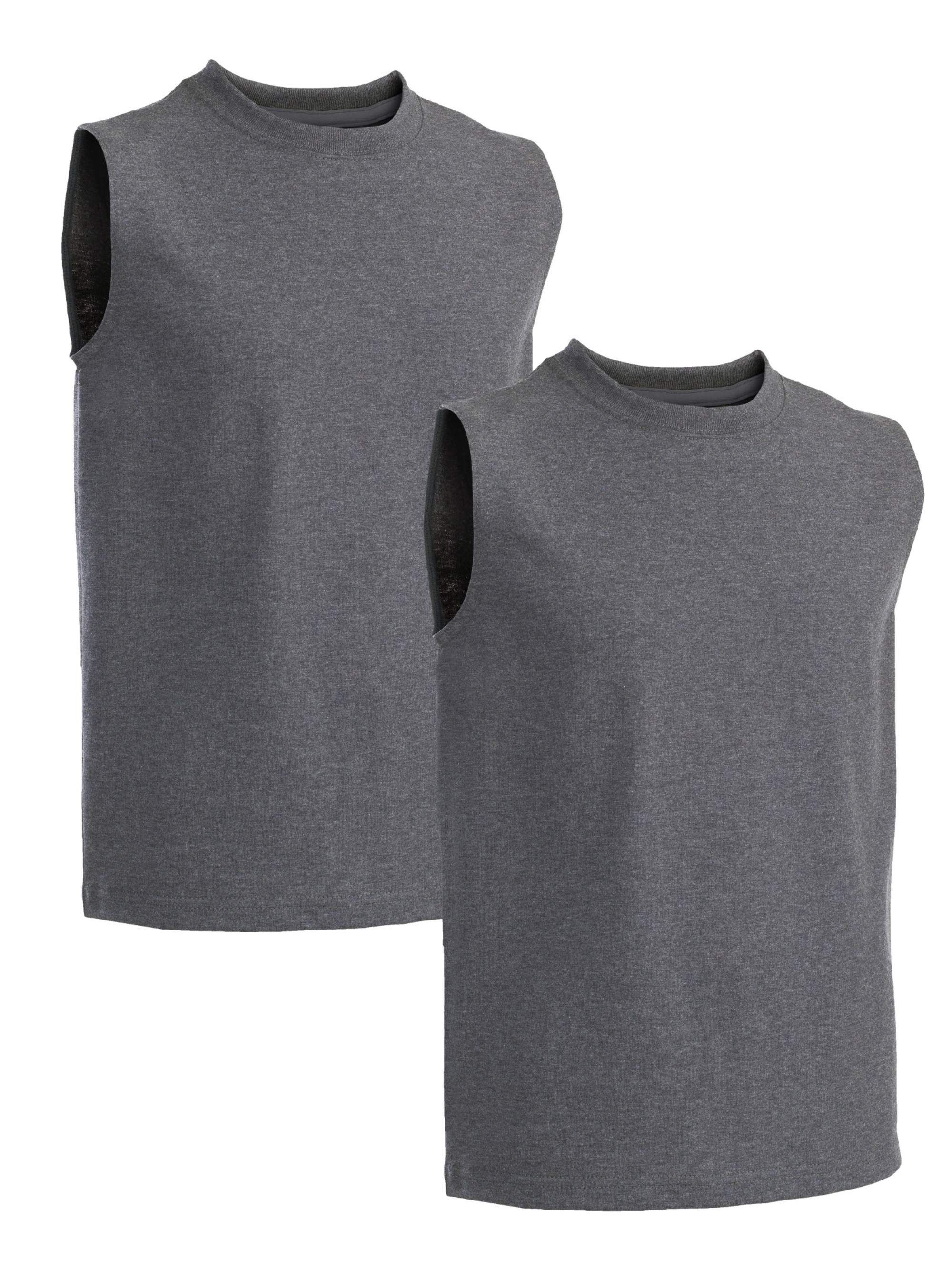 Boys' Hemmed Armhole Sleeveless T-Shirts, 2 Pack