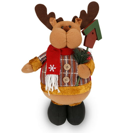 Indoor Reindeer (Stretchable Christmas Standing Figurine Toy Xmas Home Indoor Table Ornament Decorations)