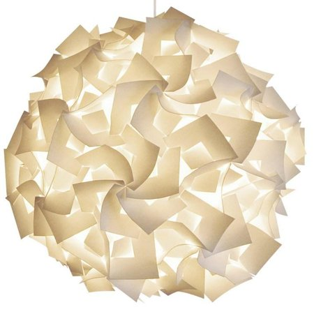 """Akari Lanterns XL Squares 30"""" wide , Warm White Glow, Modern & Unique Ceiling Hanging Light Fixtures Hardwire Pendant Lamp Shade with 10"""