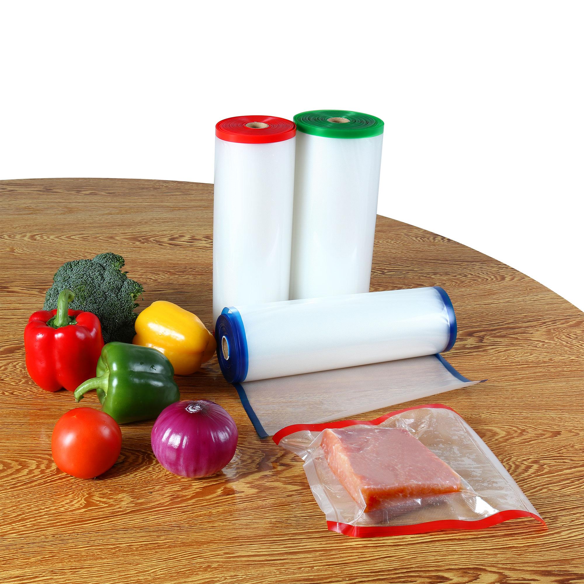 "One 11"" x 50' Vacuum Sealer Bags Roll Food Storage Freezer Bag for Kitchen"