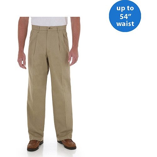 Wrangler Big Men's Advanced Comfort Pleated Pant