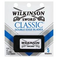 (2 Pack) Wilkinson Sword Men's Double Edge Refill Razor Blades - 5 Count