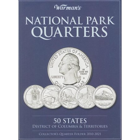 Warmans Collector Coin Folders  National Park Quarters Collectors Quarter Folder 2010 2021  50 States  District Of Columbia   Territories  Other