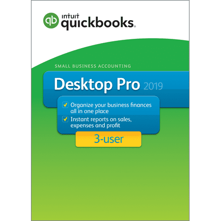 Intuit QuickBooks Desktop Pro 2019 3-User (Email & CD - Users Std Cd