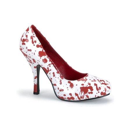 Blood Splatter Shoe Theatre Costumes Shoes White Red](Blood Splatter Shoes)