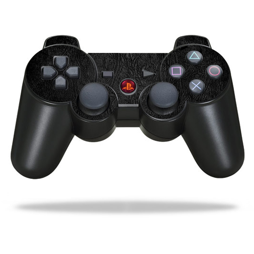 Protective Vinyl Skin Decal Cover for Sony PlayStation 3 PS3 Controller wrap sticker skins Black Leather