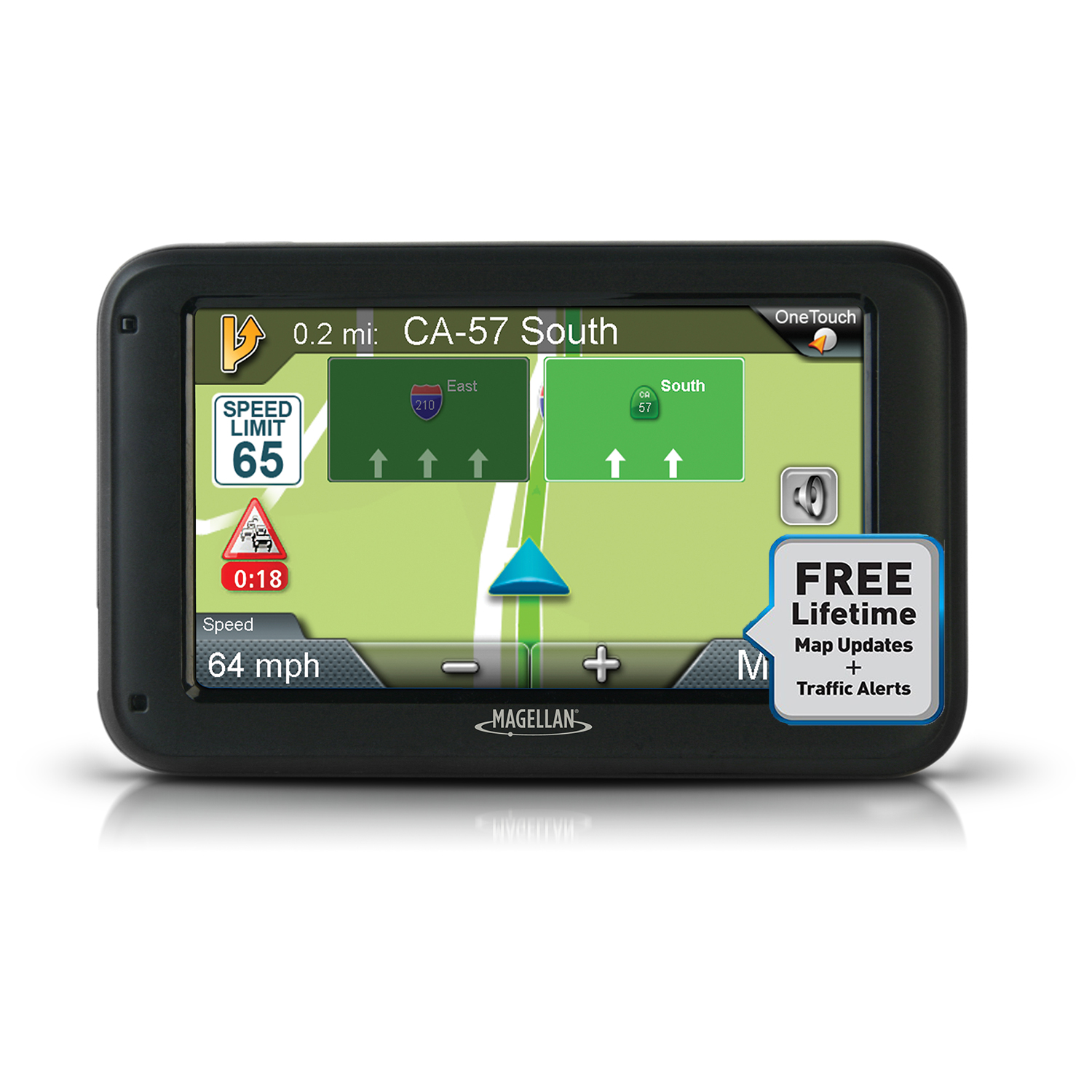"Refurbished Magellan Roadmate 5375T-LMB GPS System 5"" Touchscreen with Bluetooth & Free Maps"