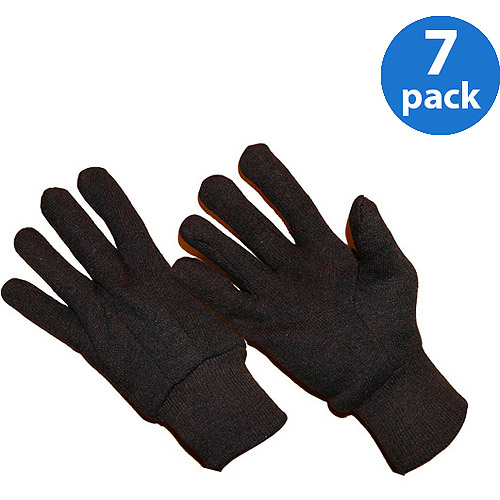 Hands On 72 Pair Value Pack, Poly/Cotton Blend Brown Jersey Glove