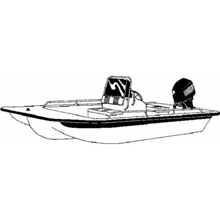 (Carver Styled-To-Fit Boat Cover for Center Console Bay Style Fishing Boats with Shallow Draft Hull)