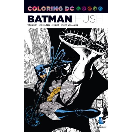 Batman Hush Adult Coloring Book