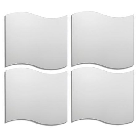KD Furnishings Wavy Tile Decorative Wall Mirror (Set of 4) - KD Furnishings Wavy Tile Decorative Wall Mirror (Set Of 4