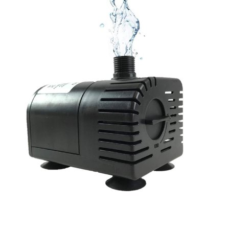 Dry-run Protection 12V-24V DC Brushless Submersible Water Pump,  410GPH, for Solar Fountain, Fish Pond, and -