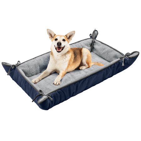 Dog Cuddler Bed,Soft Plush Pet Sofa Thick Kennel Cushion Pad Crate Mat Blanket Car Seat Cover for Small Medium Large Dogs Puppy (Plush Crate Mat)