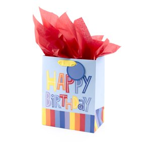 Hallmark Medium Gift Bag With Tissue Happy Birthday