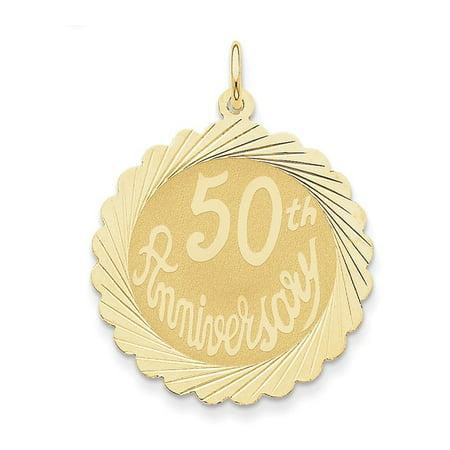 14K Happy 50th Anniversary Charm