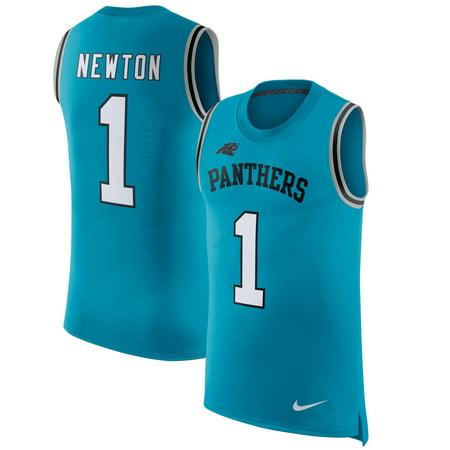 official photos 0c835 4a2df Cam Newton Carolina Panthers Nike Color Rush Player Name & Number Tank Top  - Blue