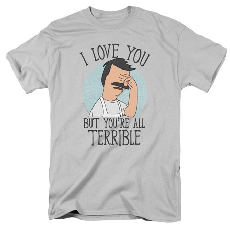 Bob's Burgers Cartoon TV Comedy Series You're All Terrible Adult T-Shirt Tee - Adult Cartoon Cat