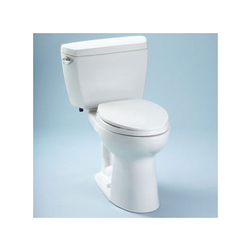 Toto Drake 1.6 GPF Elongated 2 Piece Toilet with Bolt Down Lid with E-Max Flush and Insulated Tank