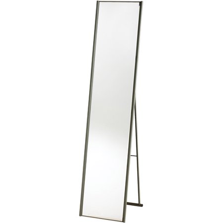 Adesso Alice Floor Mirror  Champagne Steel