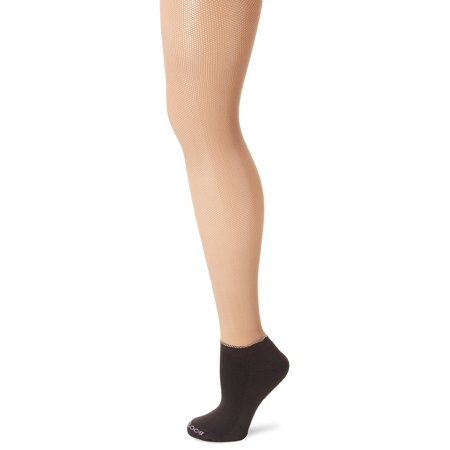 Bootights Netscape Micro Nude Fishnet Tight With Black Ankle Sock Size B