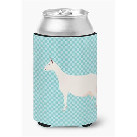 Saanen Goat Blue Check Can or Bottle Hugger - image 1 of 1