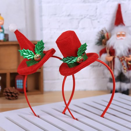 ea17d9d7ea3 Obstce Christmas Top Hat Headband Headwear Adult Children Hair Hoop Xmas  Party Props - Walmart.com