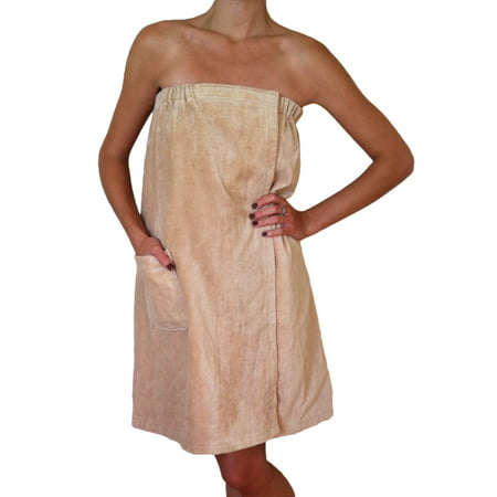 Radiant Saunas Women's Spa & Bath Terry Cloth Towel Wrap - Tan