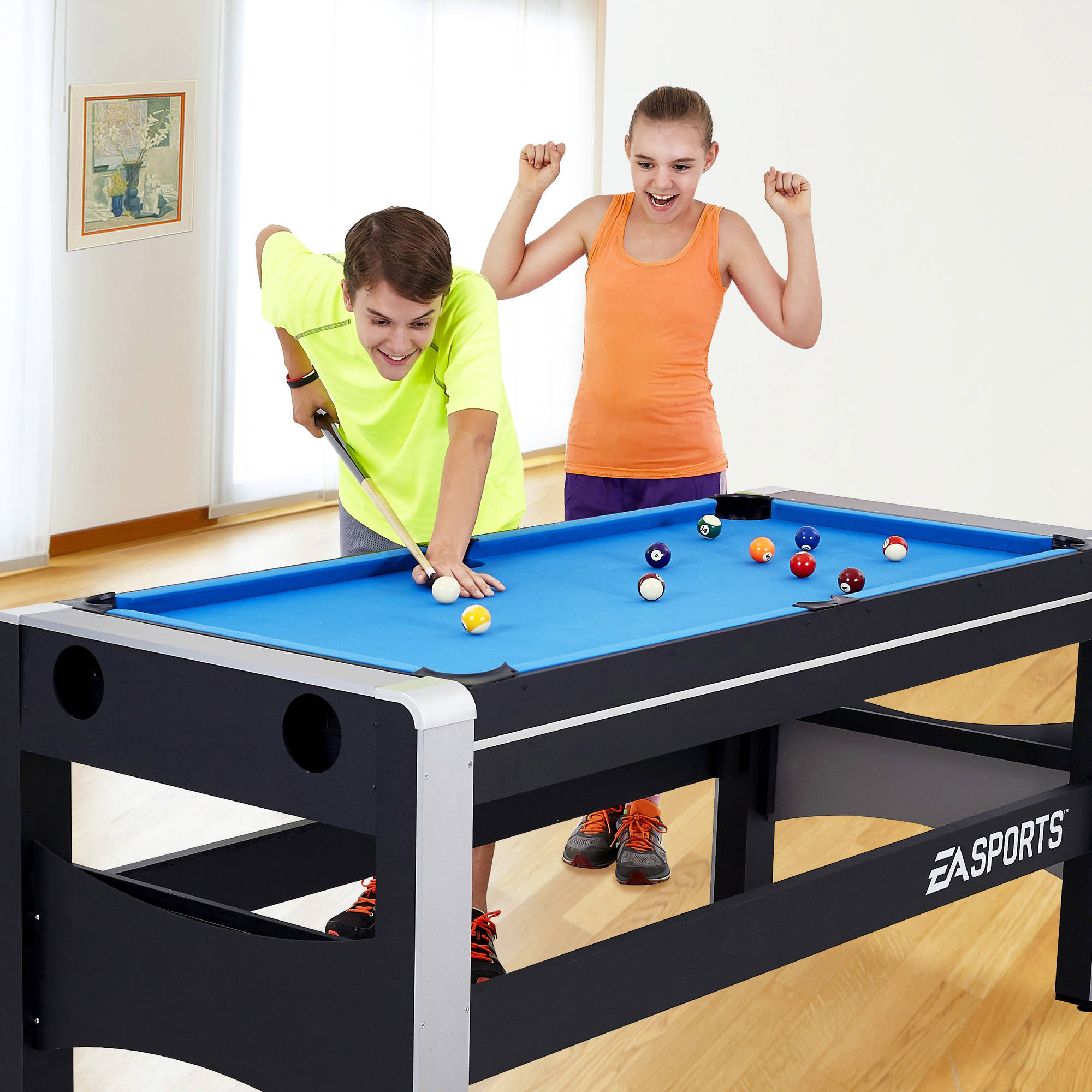 EA Sports 72 Inch 4 In 1 Swivel Combo Game Table, 4 Games With Hockey,  Billiards, Table Tennis And Finger Shoot Basketball   Walmart.com