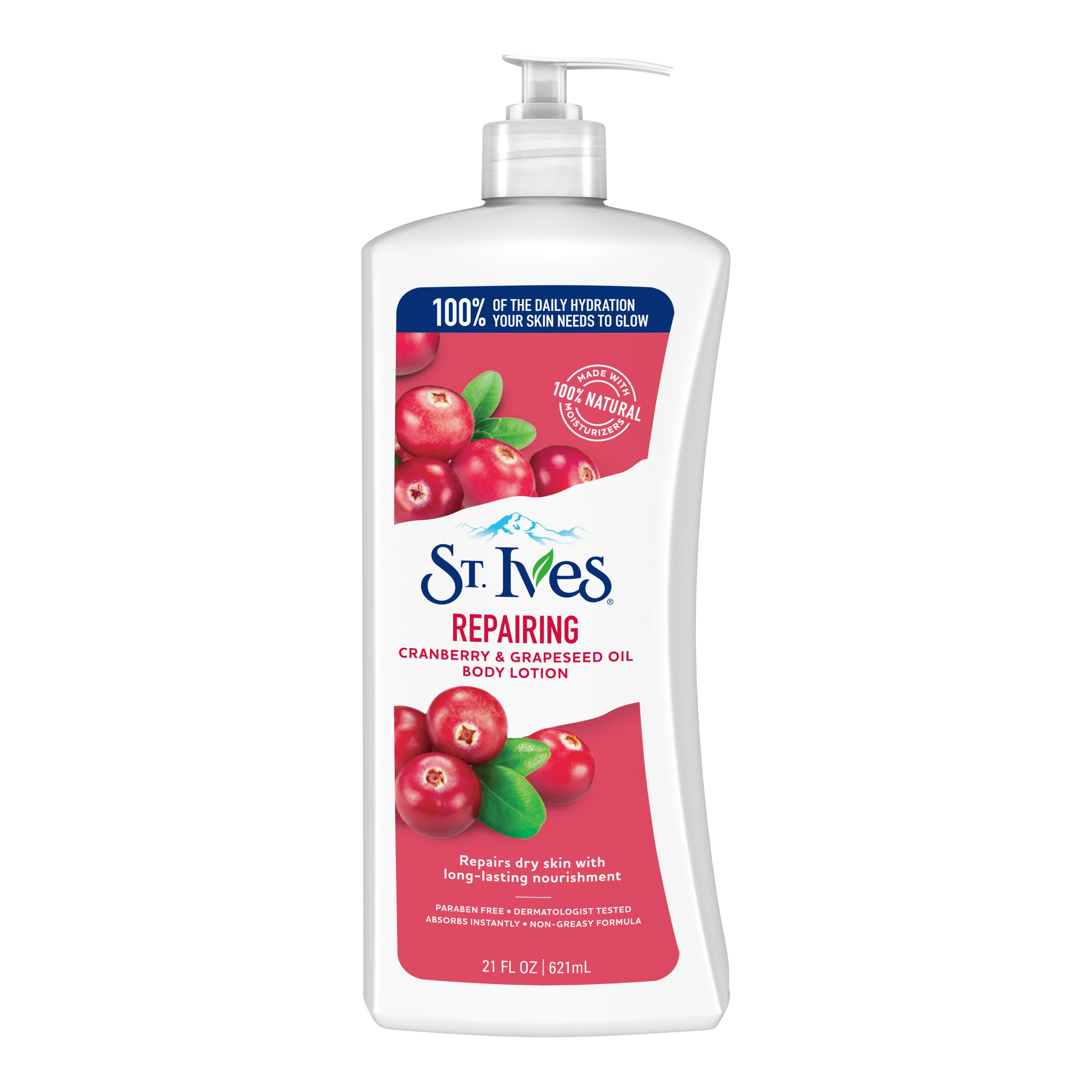 St. Ives Repairing Body Lotion Cranberry and Grapeseed Oil 21 oz