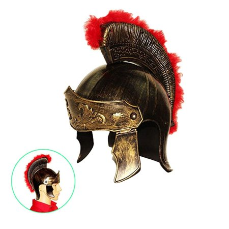 dazzling toys Roman Legion Gladiator Helmet Hat -For Big Kids, Teens and Adults.,Gold,Medium](Toy Builders Hat)