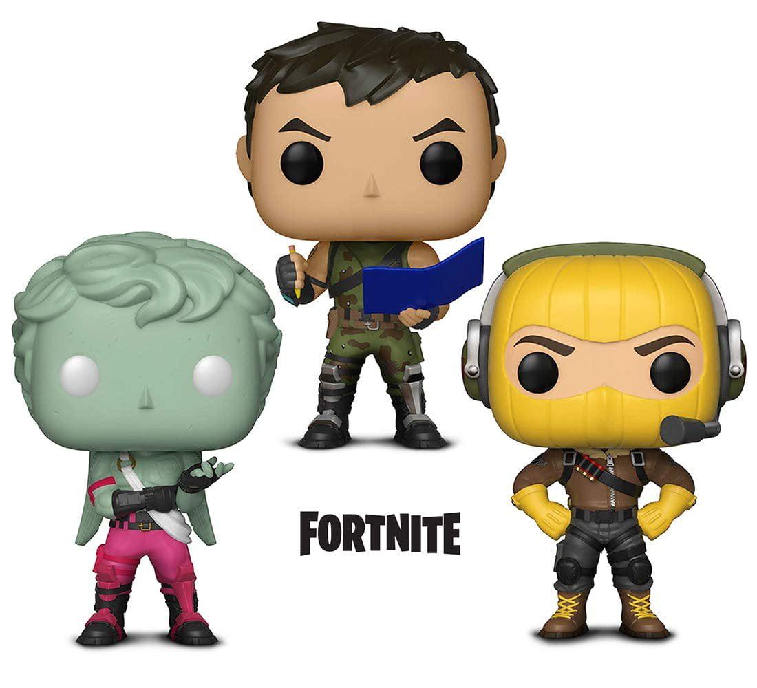 Warp Gadgets Bundle - Funko Pop GamesFortniteS1 - Raptor, Love Ranger and Highrise Assault Trooper (3 Items)