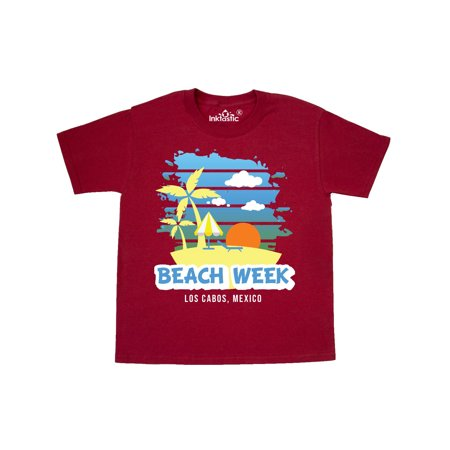 Beach Week Los Cabos Mexico with Palm Trees Youth T-Shirt Cabo Los Cabos Mexico