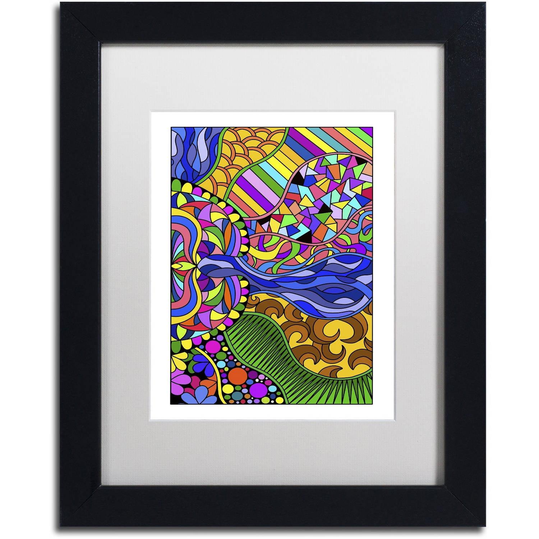 "Trademark Fine Art ""Fabulous Frills"" Canvas Art by Kathy G. Ahrens, White Matte, Black Frame"