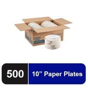 "Dixie®Ultra 10"" Heavy-Weight Paper Plate, SXP10PATH, 125 Plates per Pack, 4 Packs per Case"