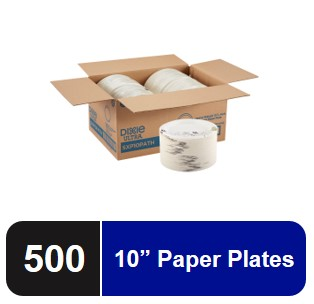 125 Plates Per Pack, 4 Packs Per Case Dixie Ultra 10Heavy-Weight Paper Plates by GP PRO - 2 Pack Pathways SXP10PATH 500 Count Georgia-Pacific