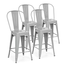Remarkable Dhp Luxor 24 Metal Counter Stool With Wood Seat Set Of 2 Multiple Colors Gmtry Best Dining Table And Chair Ideas Images Gmtryco