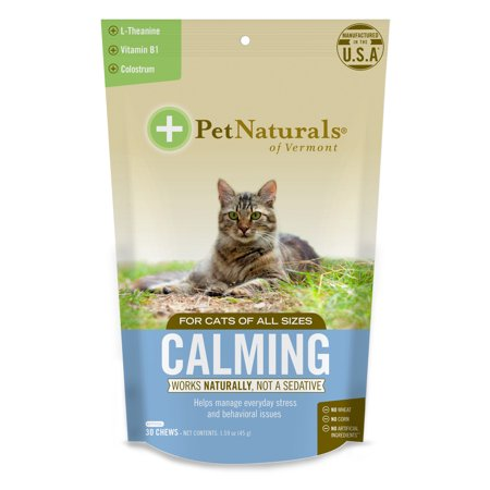 Pet Naturals of Vermont Calming for Cats, Behavior Support Supplement, 30 Bite-Sized