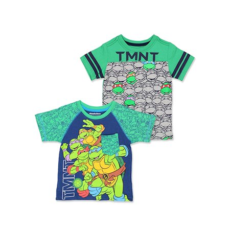 TMNT Teenage Mutant Ninja Turtles Toddler Boy's 2 Pack T-Shirt Set TMKIT103](Tmnt Shell Shirt)