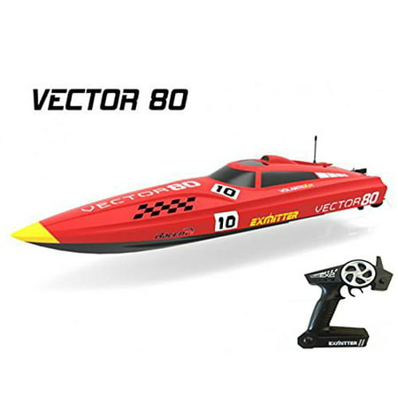 2.4Ghz Radio Control Control Vector 80 (cm) Super High Speed Race Boat ABS Unibody RC ARTR w/ESC Brushless Motor v798-1