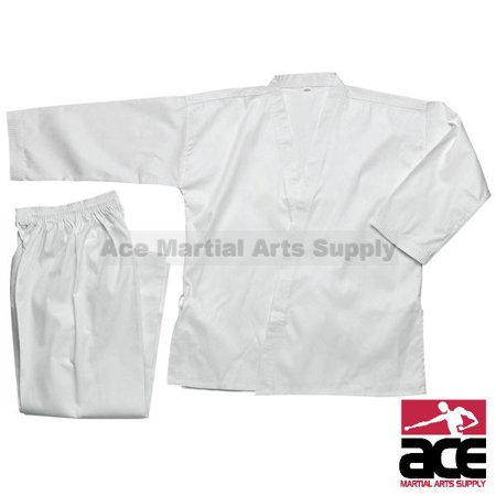 Middleweight 7 oz Student Karate Uniform, White size 8 10 Ounce Karate Uniform