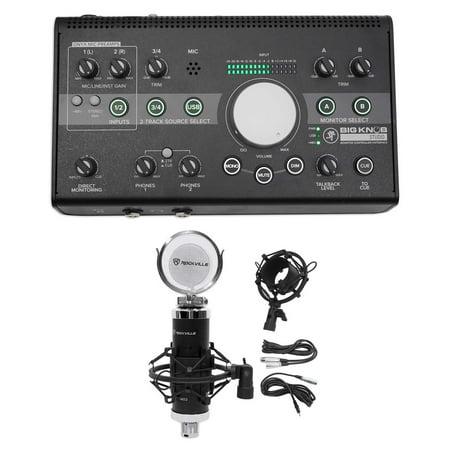 New Mackie Big Knob Studio 3X2 Monitor Controller 96Khz Usb I O Condenser Mic